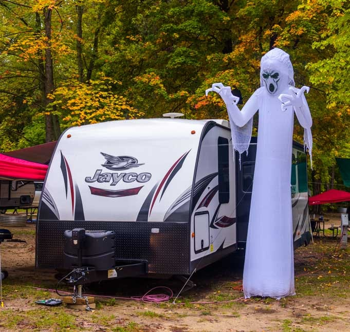 Halloween at Metamora Campground in Michigan-min