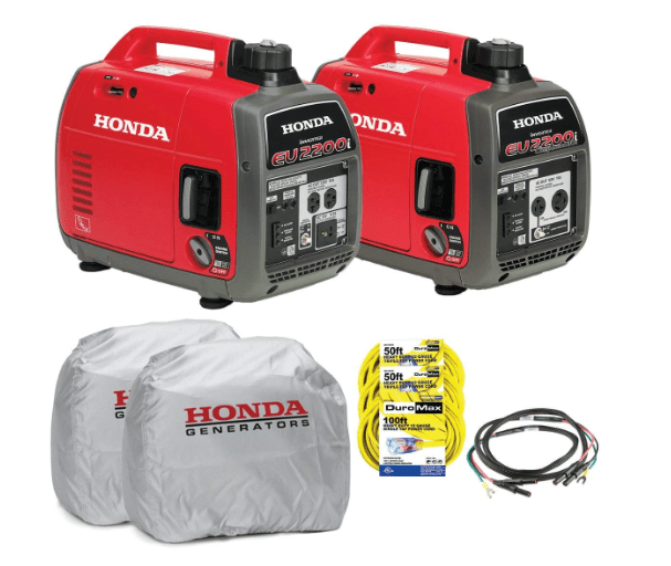 Honda EU2200i and EU2200ic Companion Generator Parallel Combo Kit-min