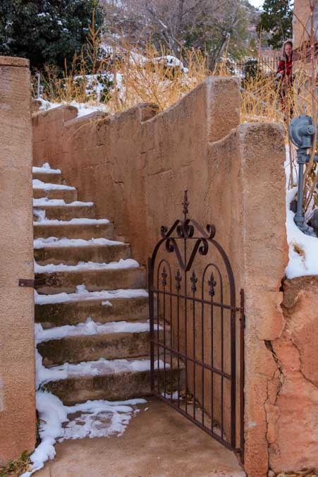 Old stone stairway Jerome Arizona-min
