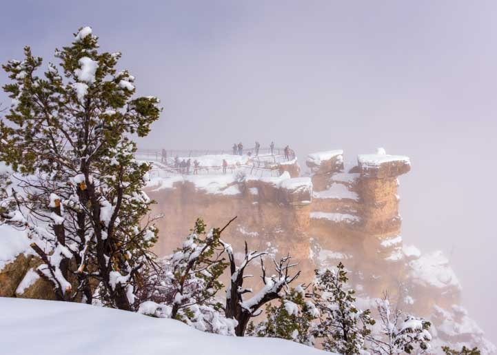 Snow at Grand Canyon National Park in snow-min