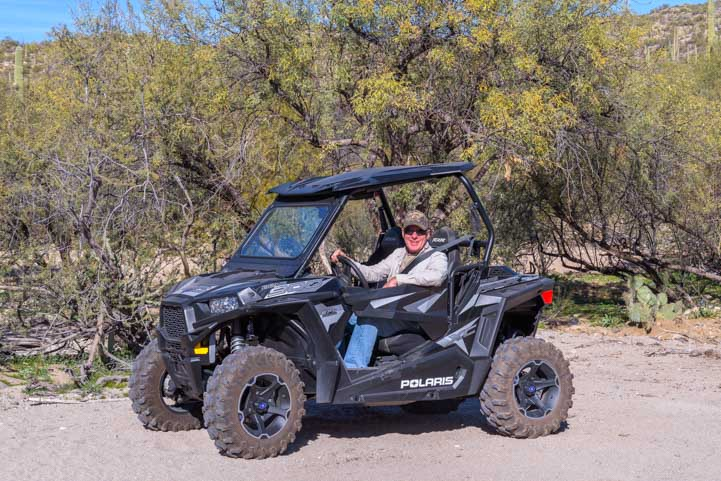 Off-road in a Polaris RZR 900 EPS XC-min