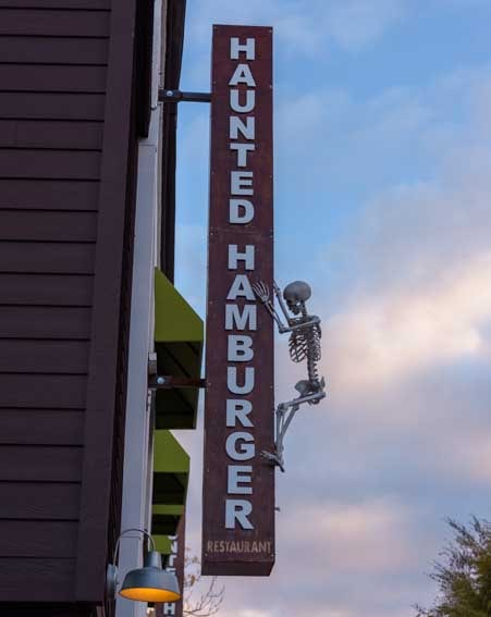 Haunted Hamburger skeleton sign Jerome Arizona-min