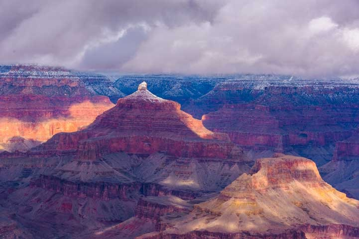 Clouds and snow at Grand Canyon National Park in snow-min