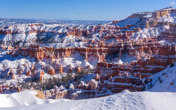 Deep Snow at Bryce Canyon National Park Sunset Point-min