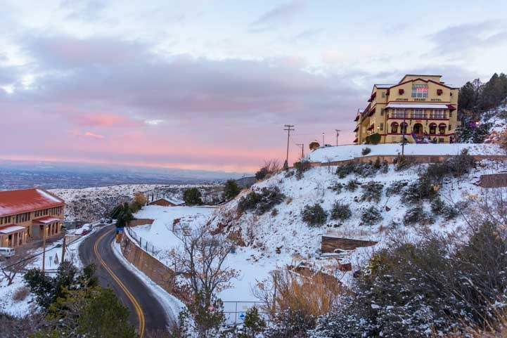 Jerome Grand Hotel Arizona sunset-min