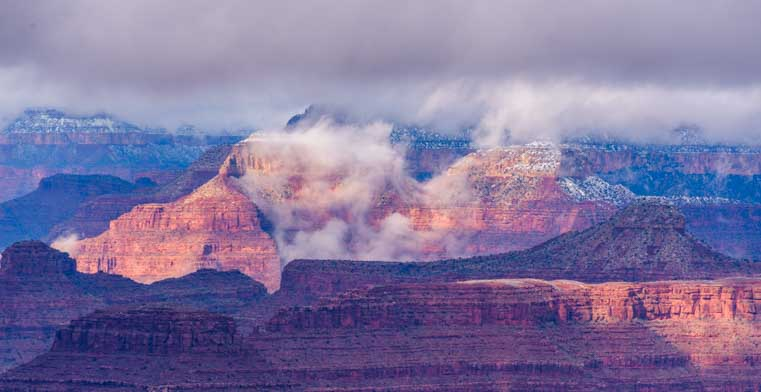 Fog and clouds Grand Canyon National Park-min