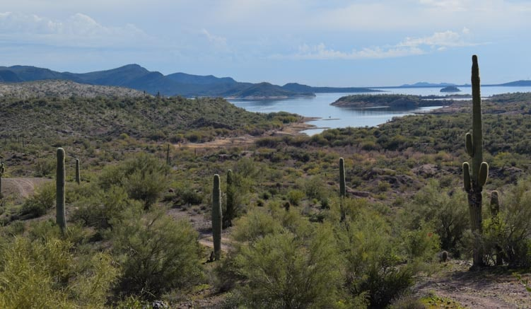 Lake Pleasant Sonoran Desert scenery-min
