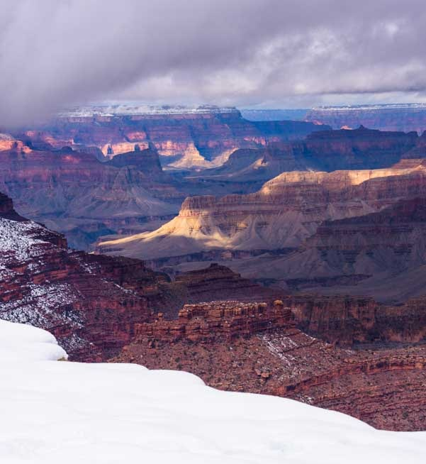Snow at Grand Canyon National Park-min