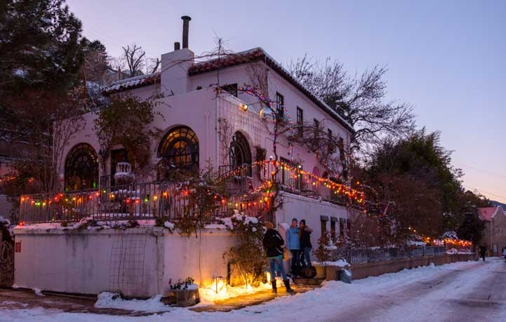 Christmas lights Jerome Arizona-min