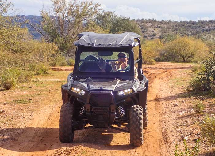 Driving a Polaris RZR 900 EPS XC UTV
