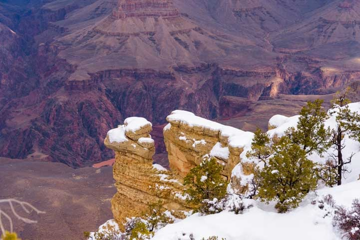 Grand Canyon National Park after a snowstorm-min