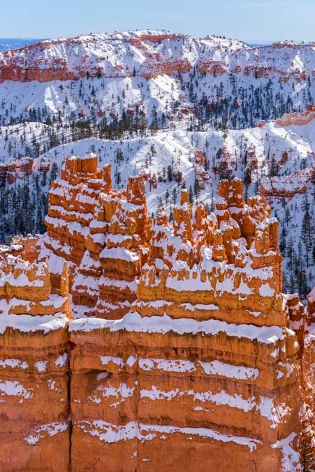Snow at Bryce Canyon National Park-min