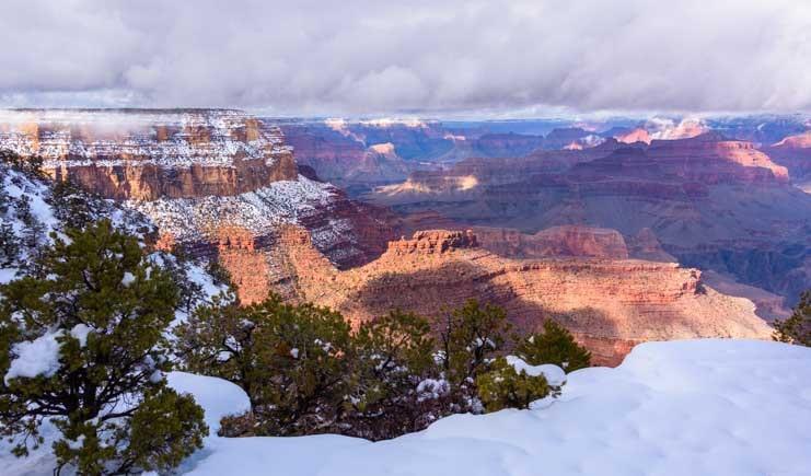 Blizzard at Grand Canyon National Park-min
