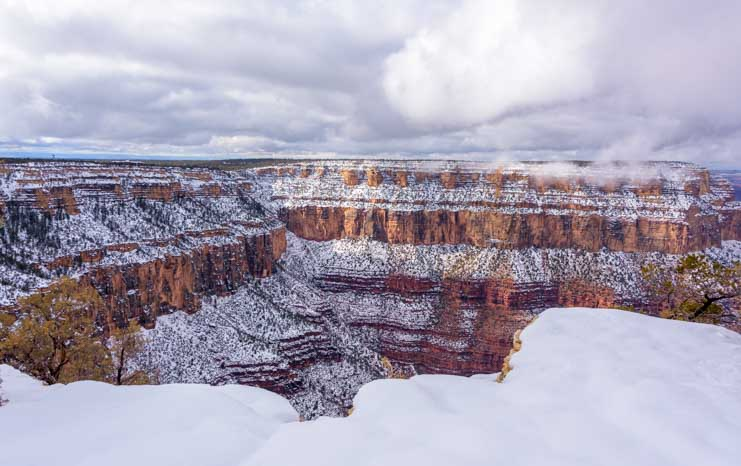 Grand Canyon National Park after snow storm-min