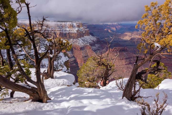 Grand Canyon National Park snowy view-min