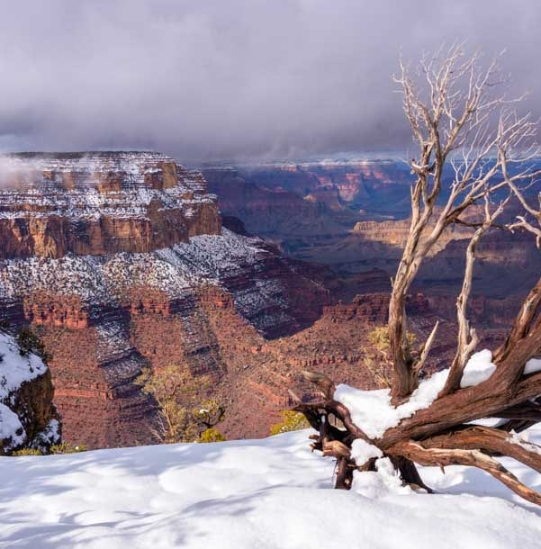 Grand Canyon National Park snow-min