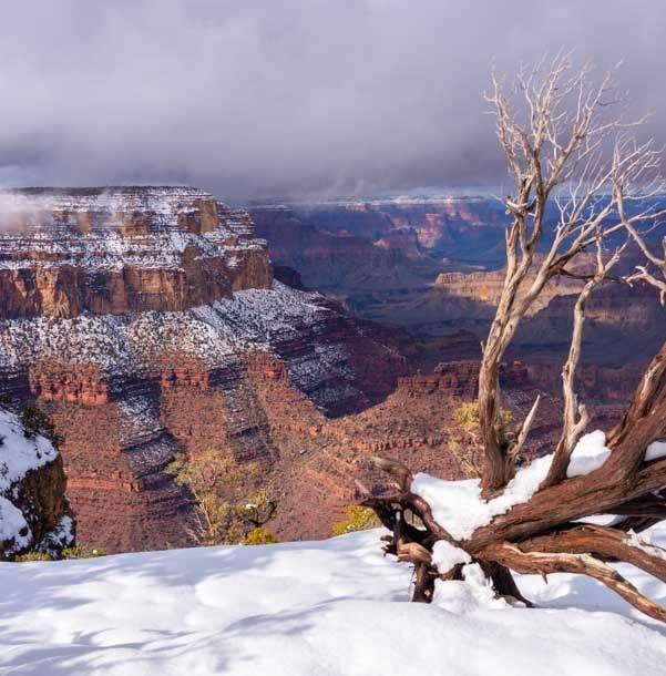 Grand Canyon National Park snow-min