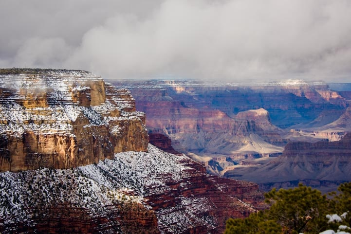 Clouds and fog Grand Canyon National Park-min