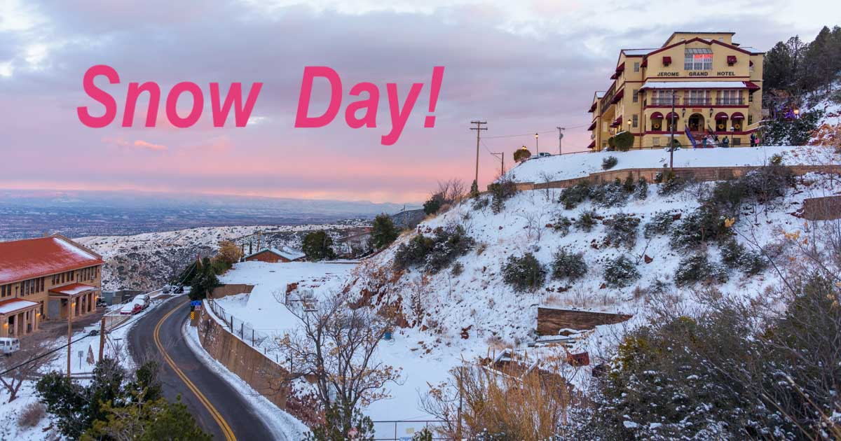 Street Map Of Jerome Arizona.Jerome Arizona A New Year S Getaway In The Snow Roads Less