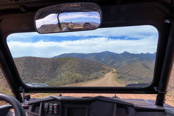 View from a Polaris RZR in Arizona-min