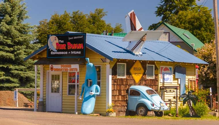 Blue Banana Coffee Shop Lostine Oregon-min