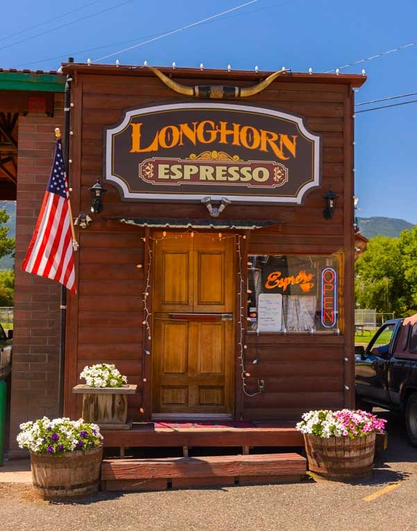 Longhorn Espresso coffee shack Enterprise Oregon-min
