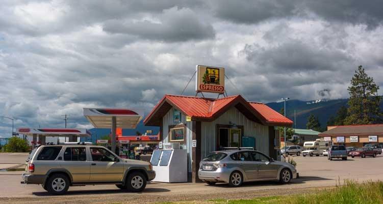 Espresso kiosk Bitterroot Valley Montana-min