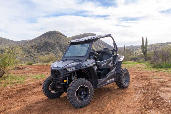 Polaris RZR in the Arizona Sonoran Desert-min