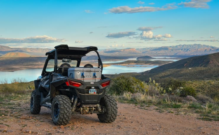 Polaris RZR at an overlook in Arizona-min