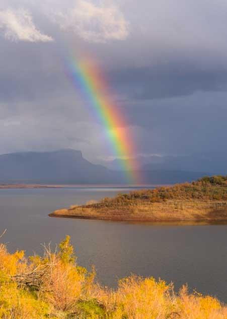 Roosevelt Lake rainbow in Arizona-min