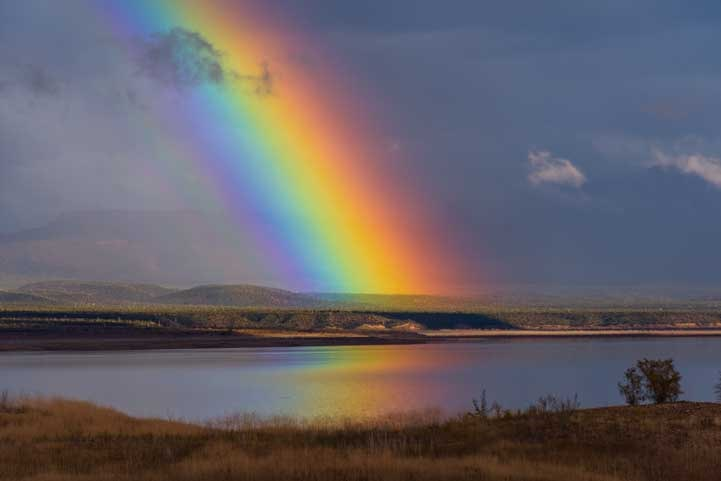 Rainbow at Roosevelt Lake Arizona-min