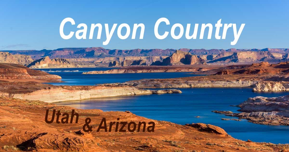 Canyon Country Arizona and Utah Glen Canyon Lake Powell Horseshoe Bend-min