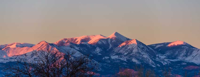 Sunrise on the Henry Mountains Utah