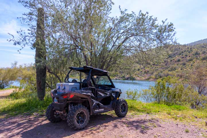 Polaris RZR 900 XC EPS with a cooler on the back-min