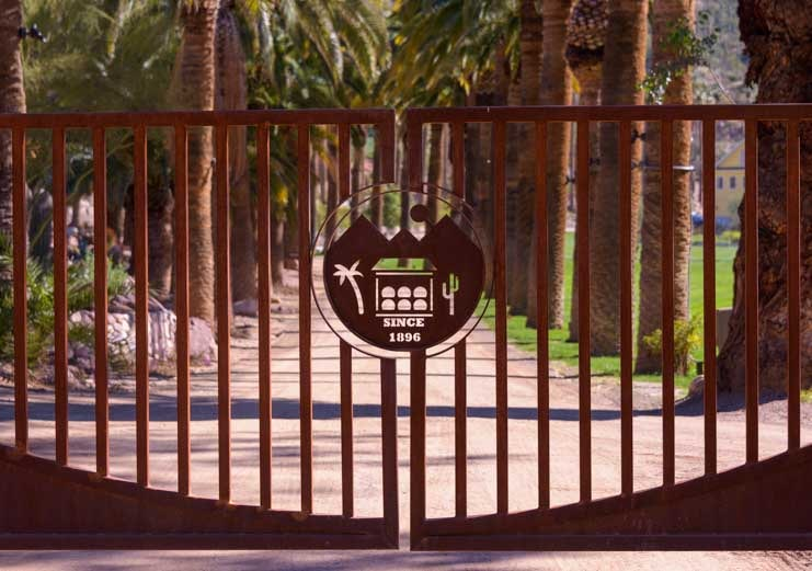 Castle Hot Springs entrance gate since 1896 Arizona-min