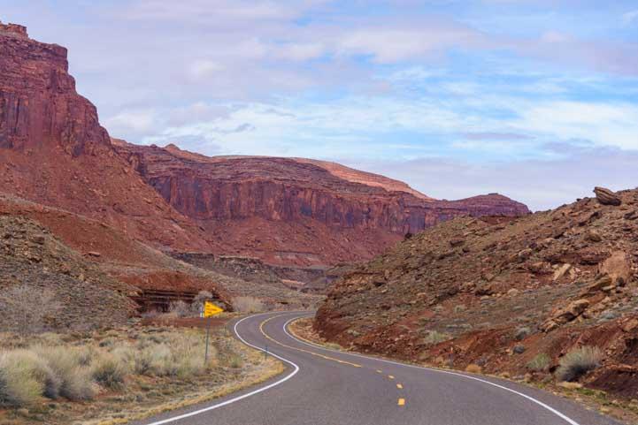 Red rocks on the Bicentennial Highway Utah RV trip-min