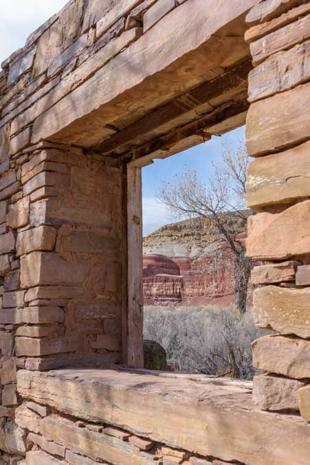 Stone house window Wayne County Utah-min