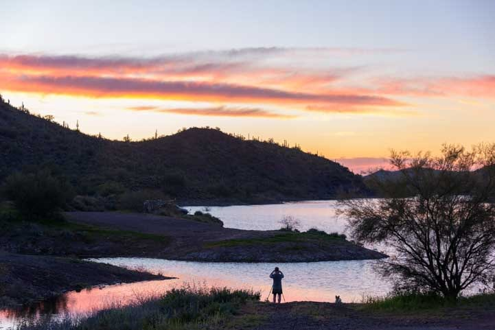 Sunrise Lake Pleasant Regional Park Arizona-min