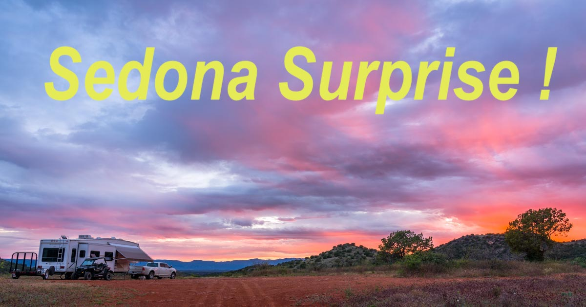 RV camping and hiking Brin Mesa Trail in Sedona Arizona