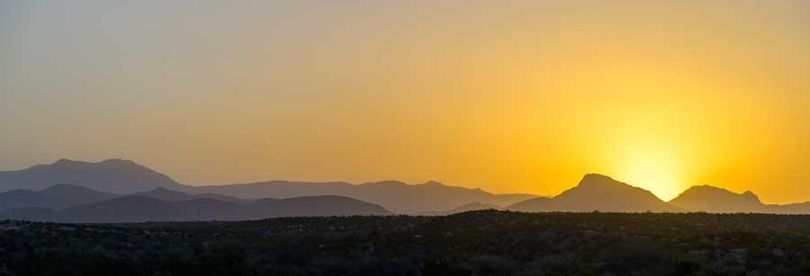 Sunset in eastern Arizona-min