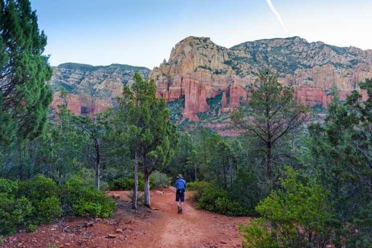 Brins Mesa Trail hike in Sedona Arizona-min