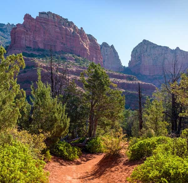 Views on Brins Mesa Trail Sedona Arizona-min