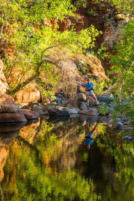 Sedona Arizona water reflections-min