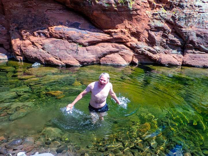 Swimming hole Sedona Arizona-min