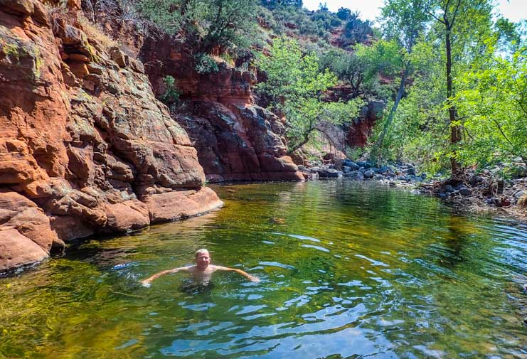 Swimming at Sedona Arizona-min
