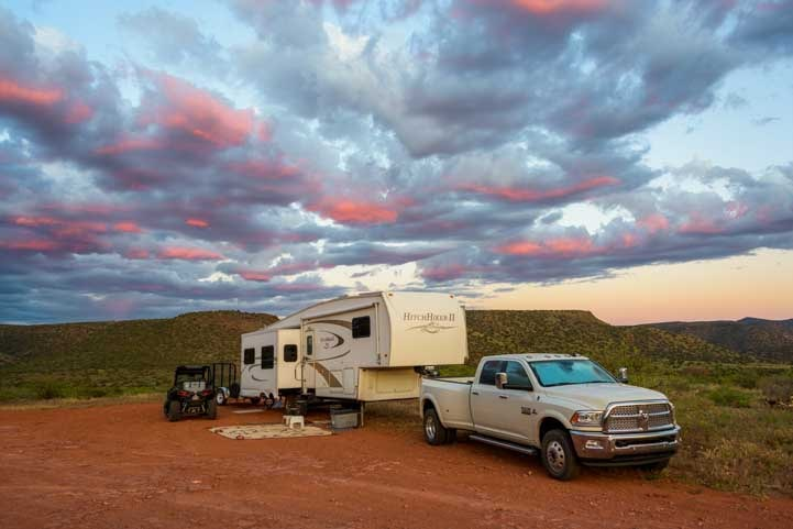 RV camping Sedona Arizona-min