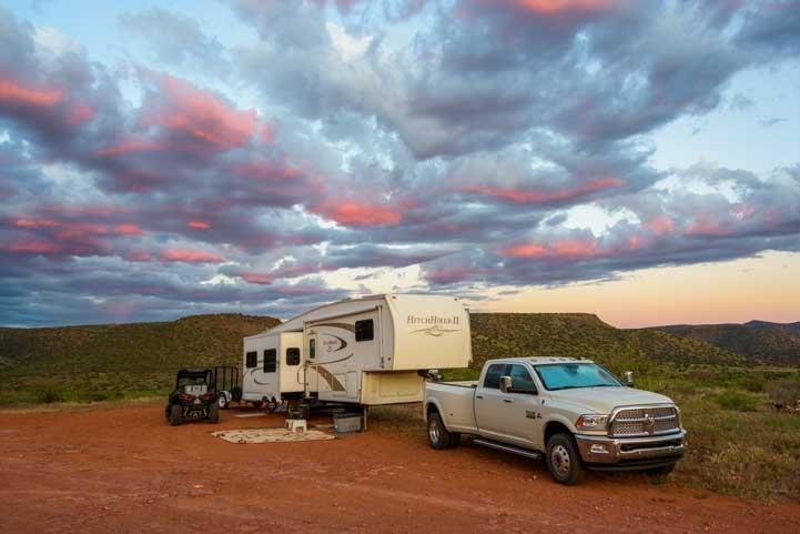 RV camping Sedona Arizona-min