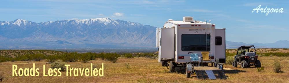 Arizona RV travel and camping trips with a RZR