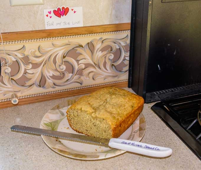 Banana bread served in an RV-min
