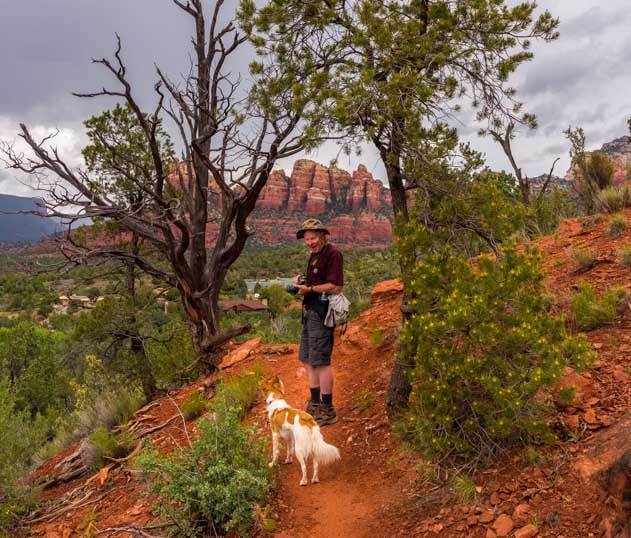 On the hiking trail in Sedona Arizona-min